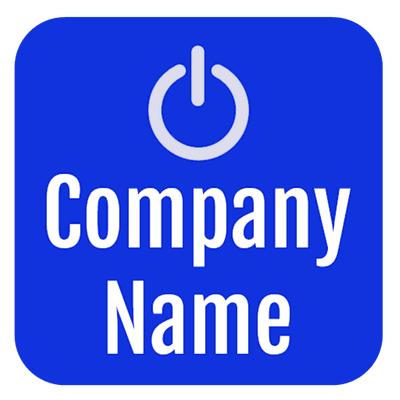 Logo with computer start button - Technology Logo