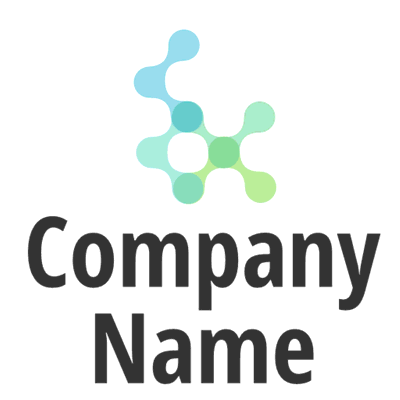Abstract blue and green droplets logo - Technology Logo