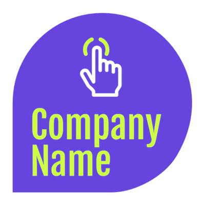 Logo de burbuja de conversación con clic - Internet Logotipo