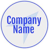 Logo azul con flecha en el fondo - Internet Logotipo