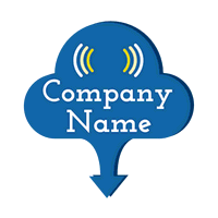 Logo with cloud and network symbol - Technology Logo
