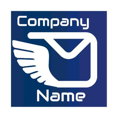 Logotipo de letra alada - Internet Logotipo