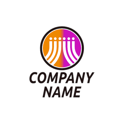 orange and purple abstract logo - Technology Logo