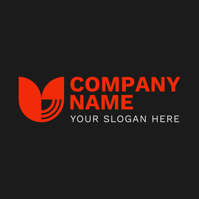 Corporate logo with login links - Technology Logo