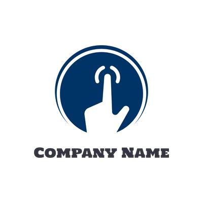 blue touch screen logo - Technology Logo