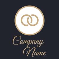 Logotipo círculos rosas y azules - Servicio de bodas Logotipo