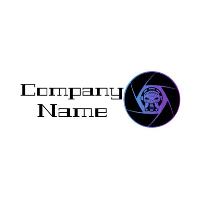Logotipo de lente fotográfica vintage - Internet Logotipo