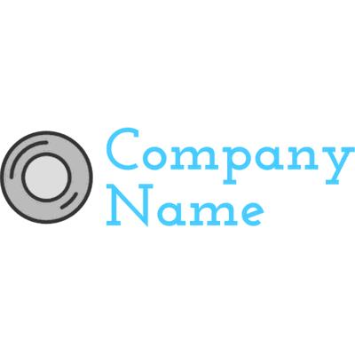 Grey camera lens logo - Photography Logo
