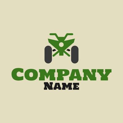 Green all-terrain vehicle logo - Landscaping Logo