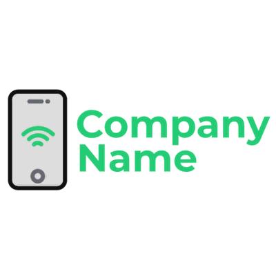 Logo del teléfono con señal wifi - Internet Logotipo