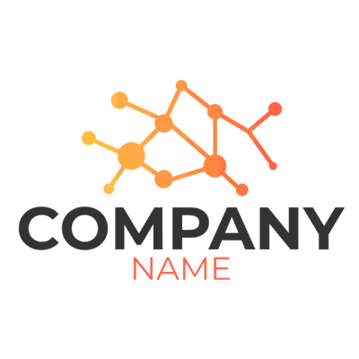 Logotipo de puntos de conexión - Internet Logotipo