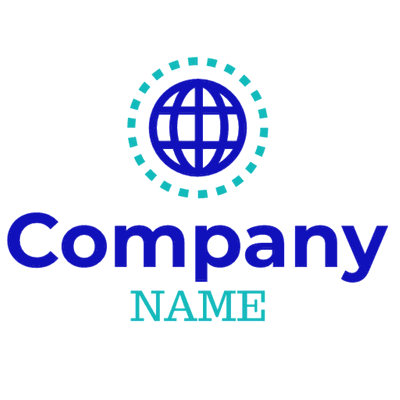 blue earth with green dots logo - Communications Logo