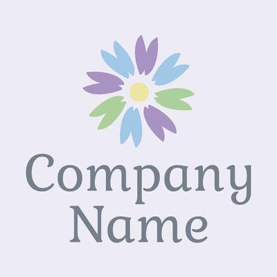 Logotipo de flor color pastel - Floral Logotipo