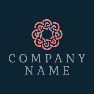intertwined red and grey lines logo - Abstract Logo