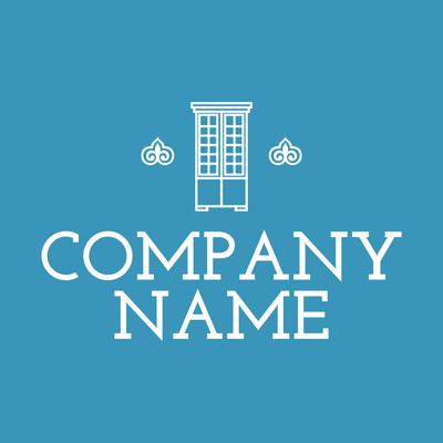 White Cabinet Logo - Home Furnishings Logo