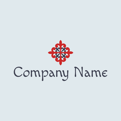 Elegante logo de cruz roja - Religión Logotipo