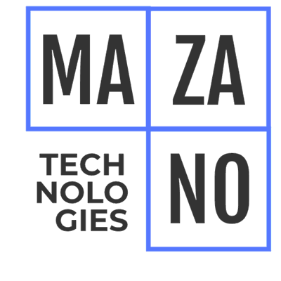 Technology logo with blue squares - Technology Logo