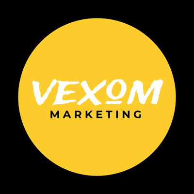 Marketing logo in a yellow circle - Business & Consulting Logo