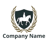 Equestrian logo with a rider silhouette - Security Logo