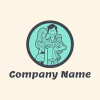 Familie im Kreis-Logo - Kinder & Kinderbetreuung Logo