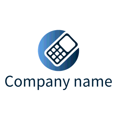 Logo with mobile phone icon - Technology Logo