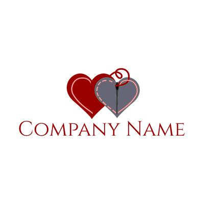 heart and stitch logo - Dating Logo